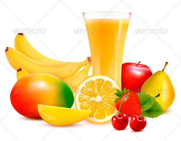 Fresh Color Fruit and Juice