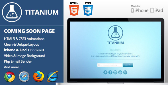 ThemeForest Titanium Coming Soon Page 3727786
