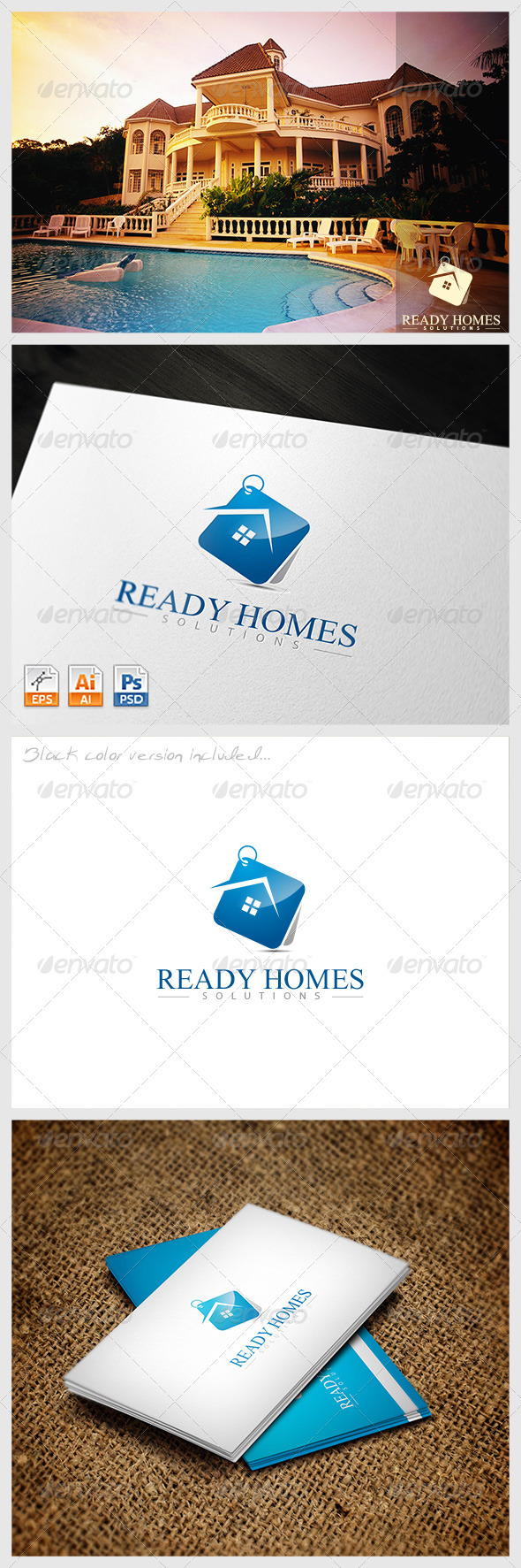GraphicRiver Ready Homes Solutions Logo 3793953