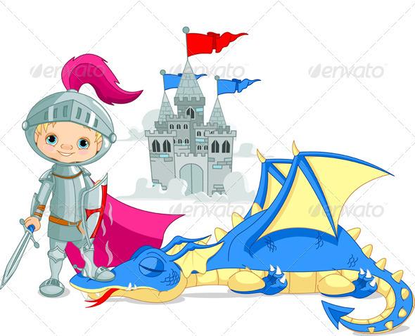 GraphicRiver Dragon and Knight 3911319