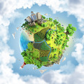 fantasy green world globe concept - PhotoDune Item for Sale