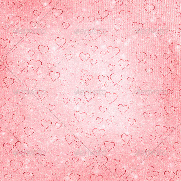 Romantic valentine paper with hearts 8 - Stock Photo - Images