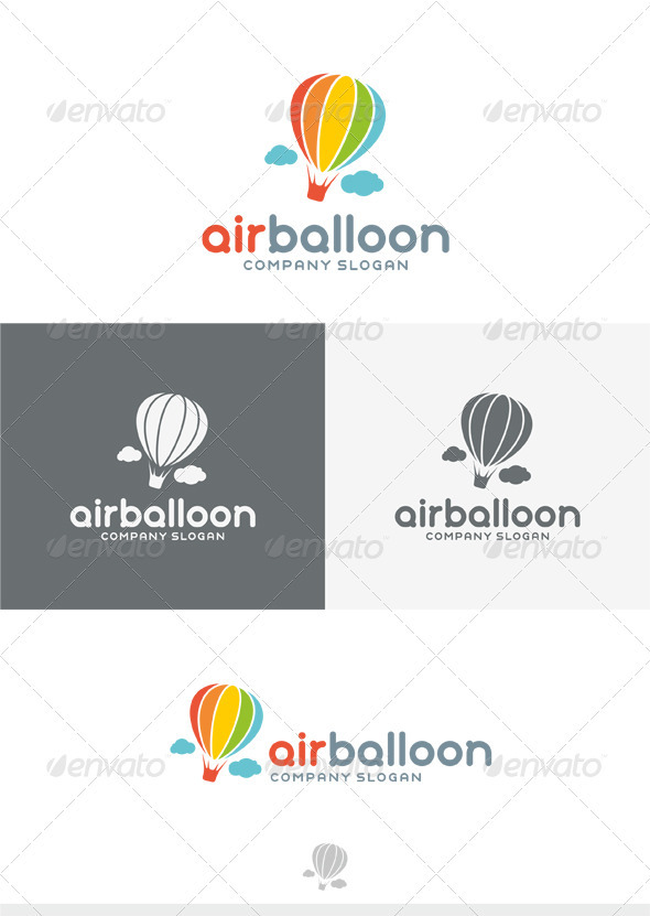 GraphicRiver Air Balloon Logo 3911489