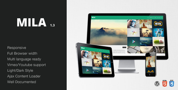 Mila - Ajax Portfolio Theme - Wordpress - Creative WordPress