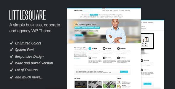 ThemeForest LittleSquare Responsive WordPress Theme 3863370