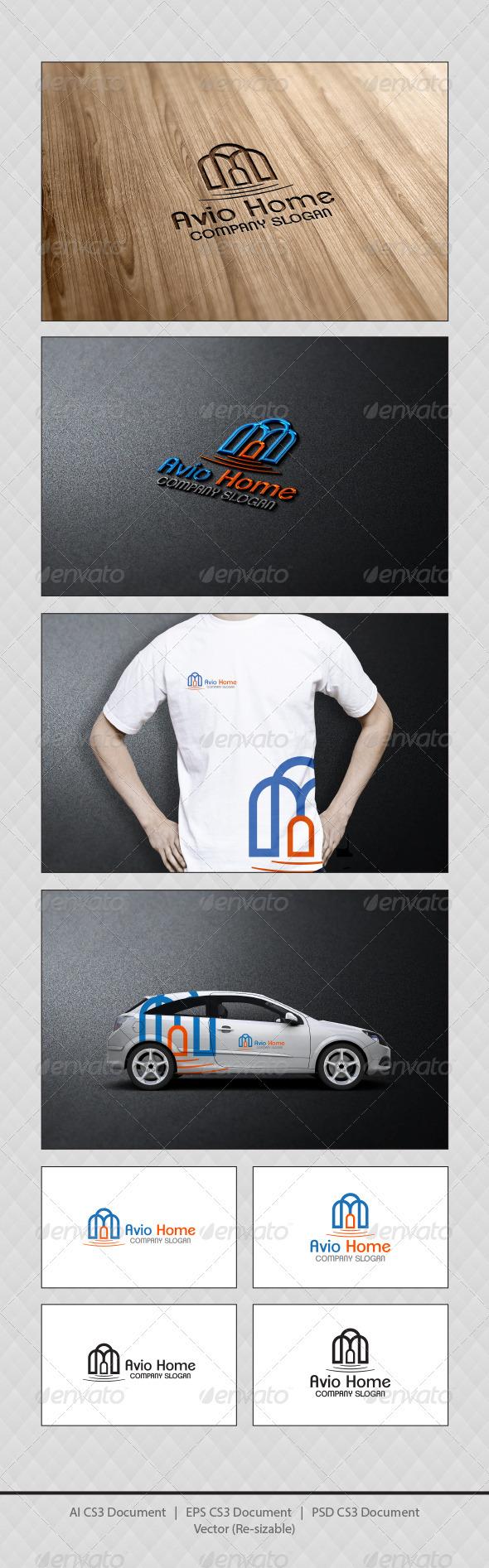 GraphicRiver Avio Home Logo Template 3913242