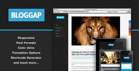 Bloggap - Responsive Blog WordPress Theme