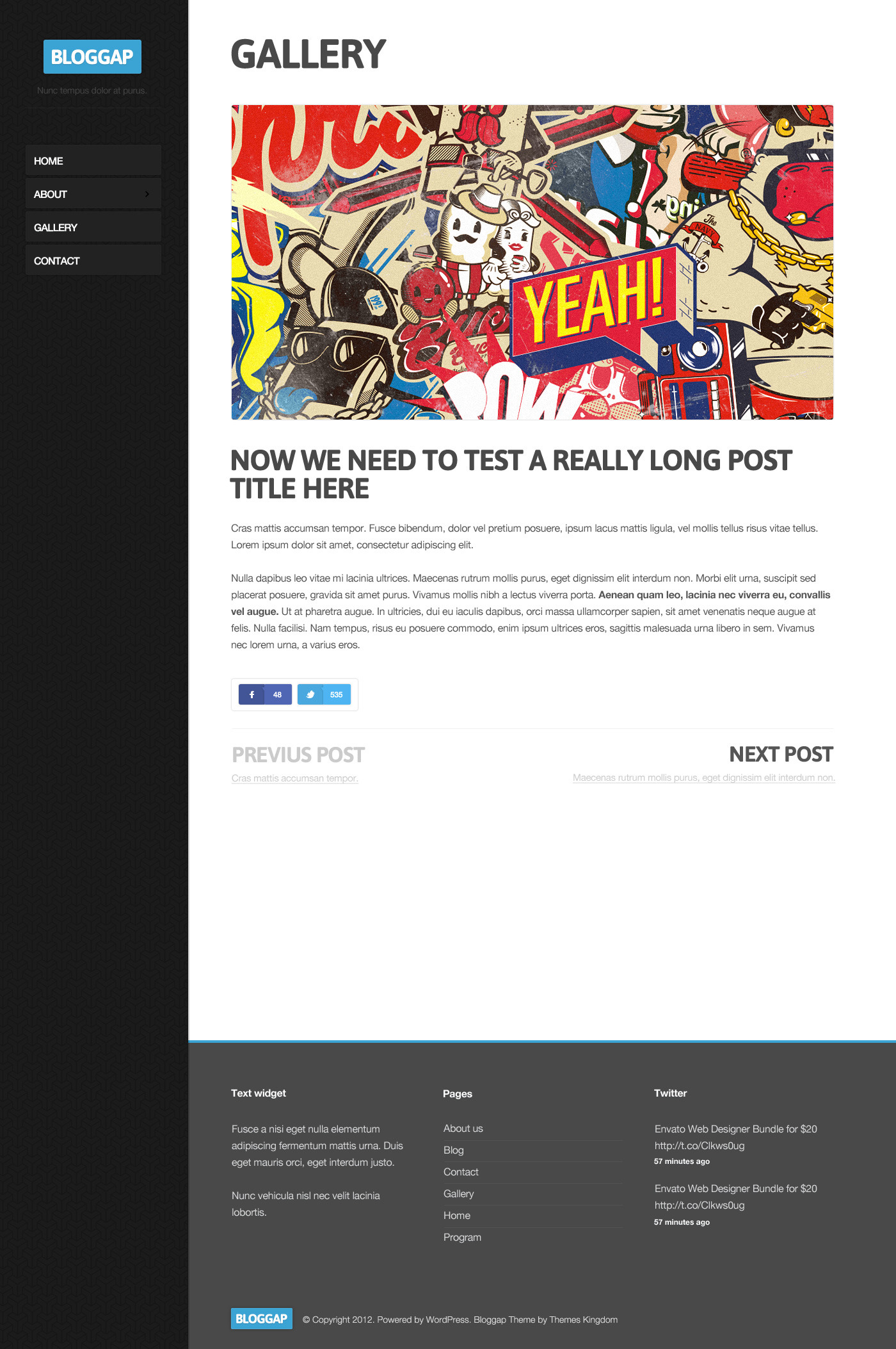 Bloggap - Responsive Blog WordPress Theme