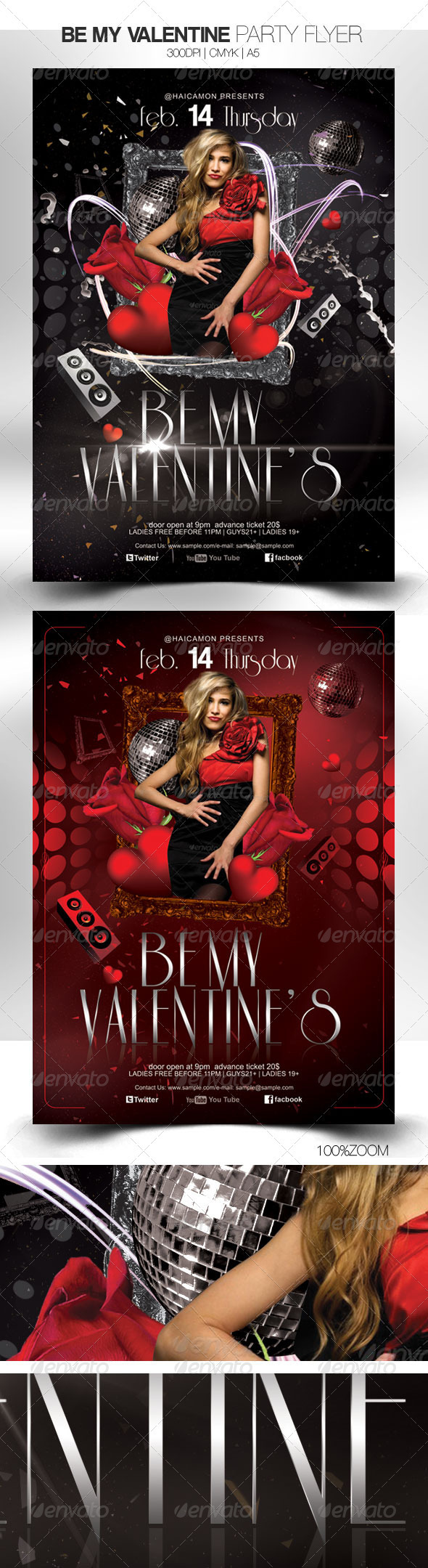 GraphicRiver Be My Valentine Party Flyer 3914049