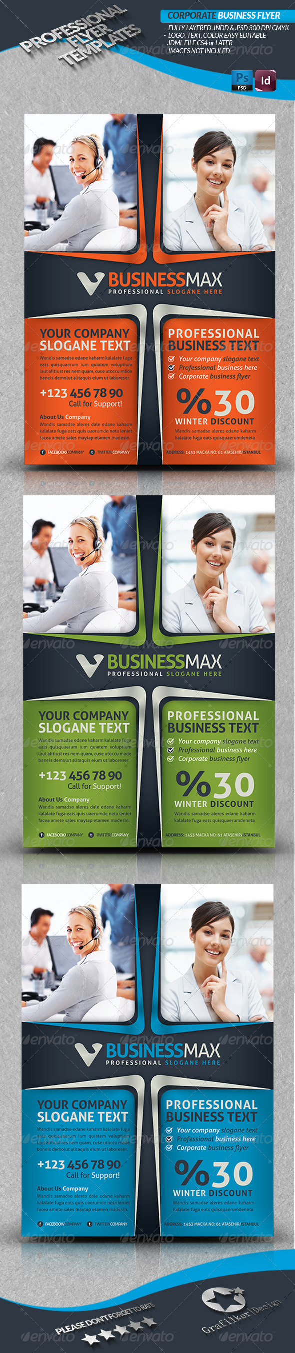 GraphicRiver Corporate Business Flyer 3914118