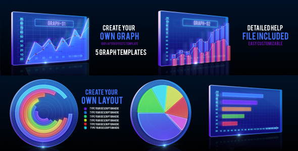 Animated Graph and Video Infographic Template