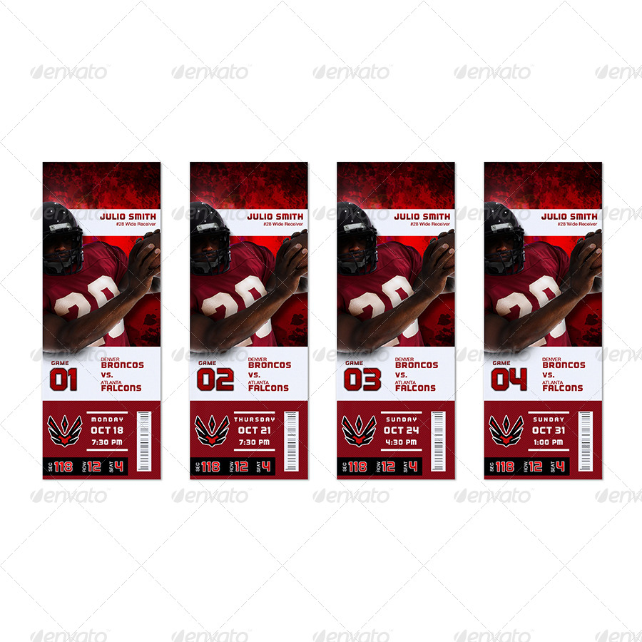 Event Ticket Template MockUp Combo 20 by SB5000 – Sporting Event Ticket Template