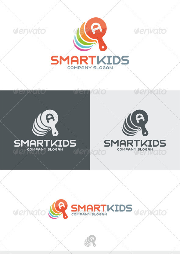 GraphicRiver Smart Kids Logo 3914696