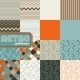Set of Abstract Retro Seamless Patterns.