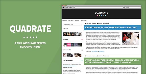 ThemeForest Quadrate WordPress Theme 3915203