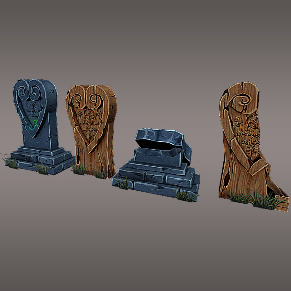 3DOcean Low Poly Gravestone 4 3915585