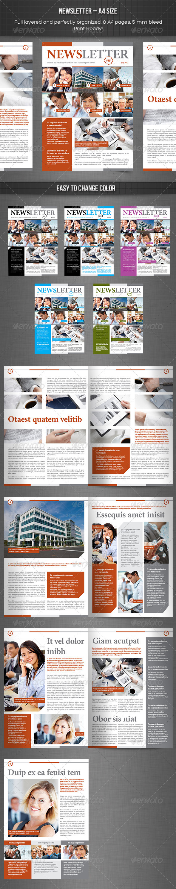 GraphicRiver Newsletter vol 8 Indesign Template 3915606