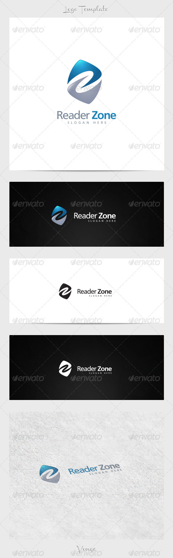 Reader Zone - Letters Logo Templates