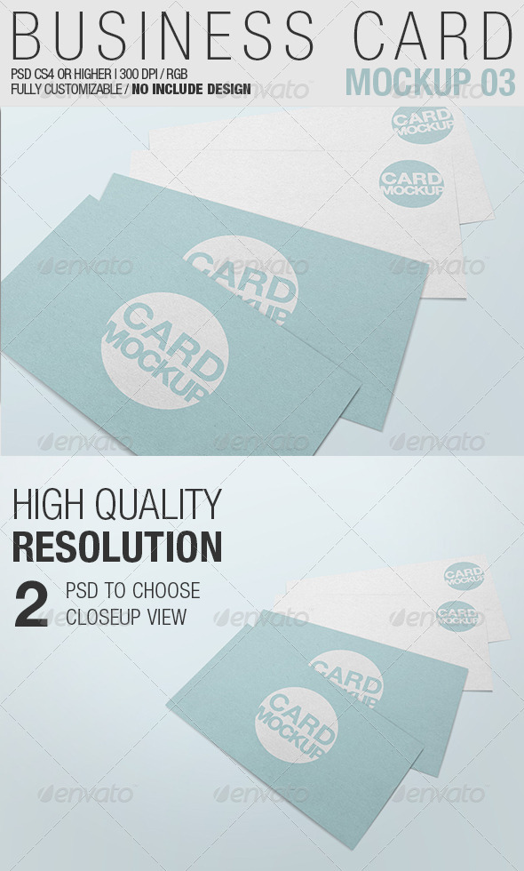 Business Card Mockup 03 - Business Cards Print