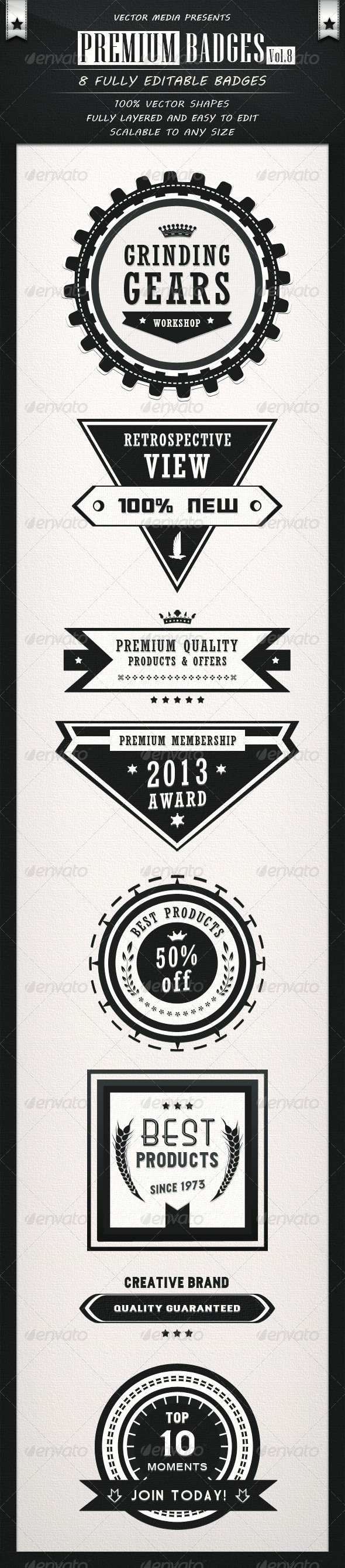 Premium Badges Vol.8