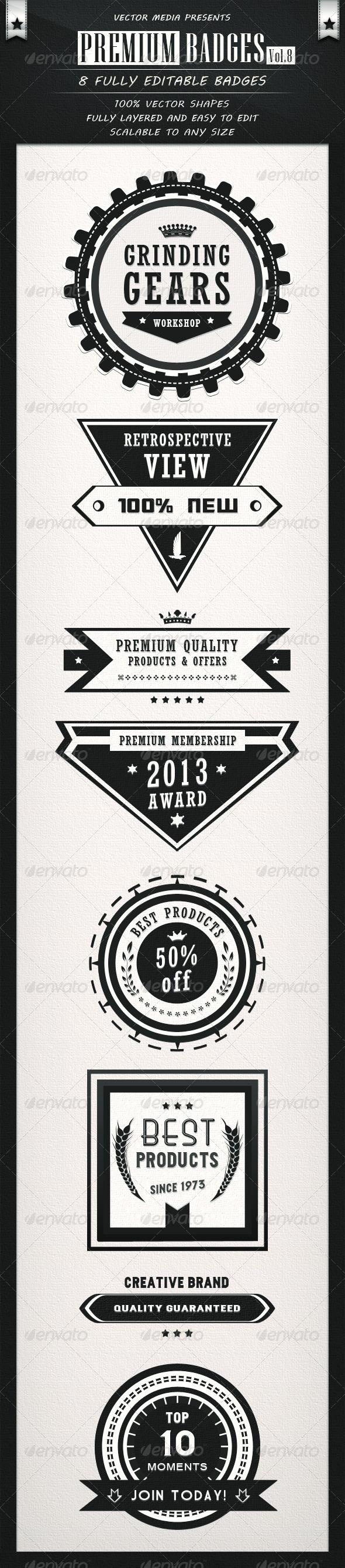 GraphicRiver Premium Badges Vol.8 3916429