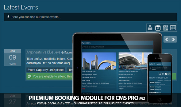 Booking Module for CMS pro m2