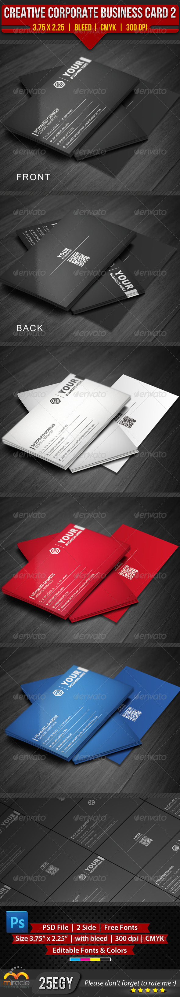 GraphicRiver Corporate Business Card 2 3916537