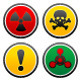 Symbols of Hazard on the Round Buttons - GraphicRiver Item for Sale