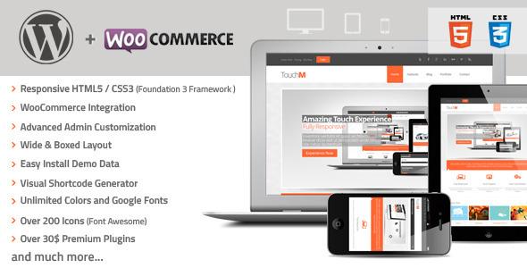 ThemeForest TouchM Responsive WooCommerce Premium Theme 3882763
