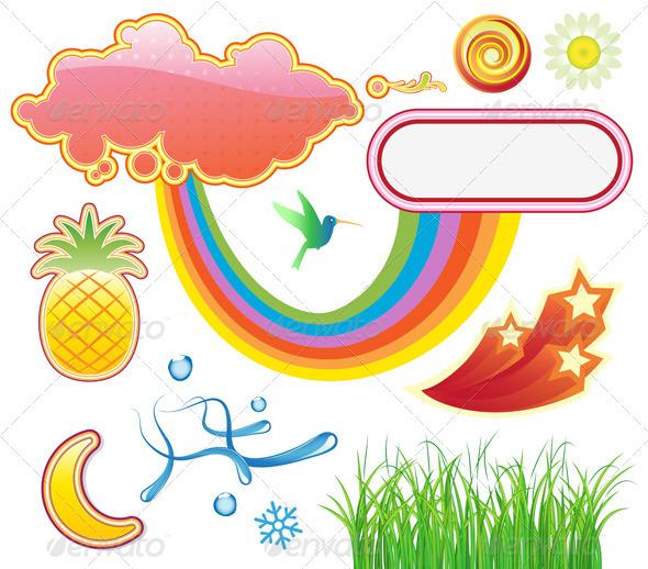 GraphicRiver Summer Design Elements 3916691