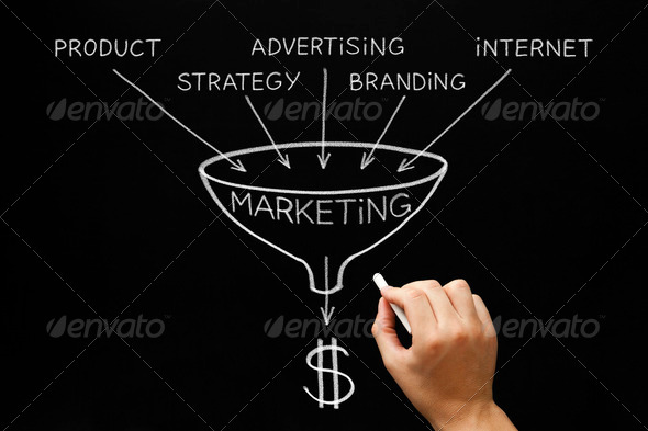 Marketing Concept Blackboard - Stock Photo - Images
