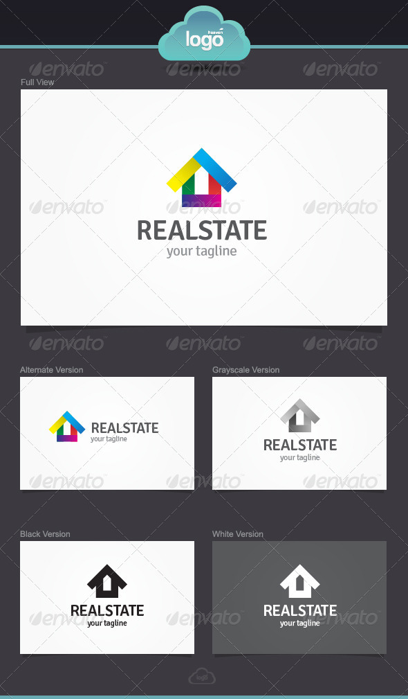 GraphicRiver Real State Logo Template 3916806
