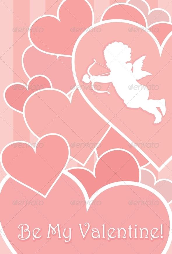GraphicRiver Valentine Card Design 3916885