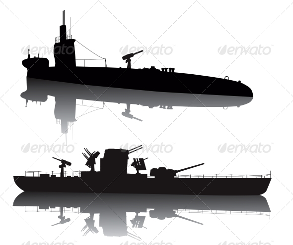 GraphicRiver Military silhouettes 3916957