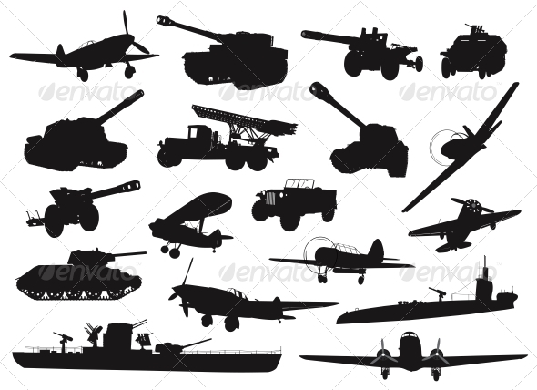 GraphicRiver Military silhouettes 3916965