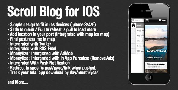 CodeCanyon ScrollBlog For iOS Wordpress 3916976
