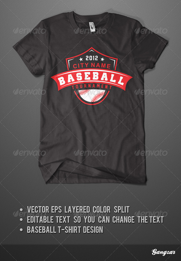 GraphicRiver Baseball T-Shirt 3916978
