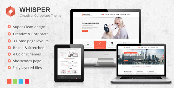 ThemeForest Whisper Creative Corporate Theme 3917000