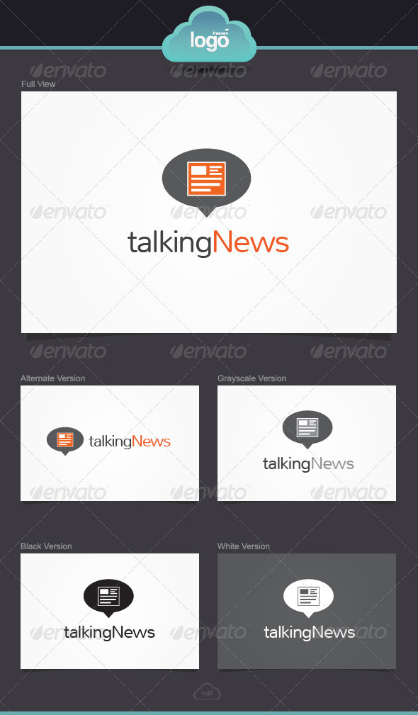 GraphicRiver Talking News Logo Template 3917172