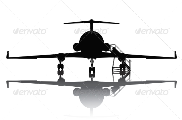 GraphicRiver Aircraft Silhouette 3917238