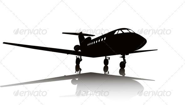 GraphicRiver Aircraft Silhouette 3917240