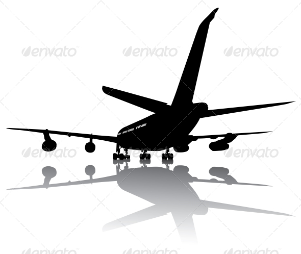 GraphicRiver Aircraft Silhouette 3917241