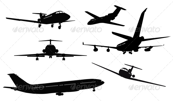 GraphicRiver Aircraft Silhouettes 3917243