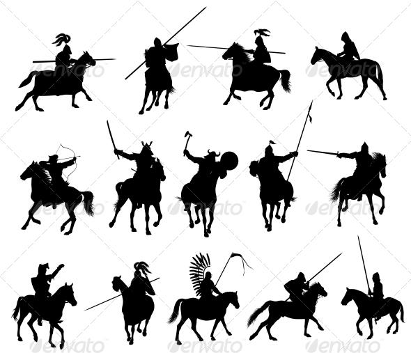 GraphicRiver Vector Horsemen Set 3917252