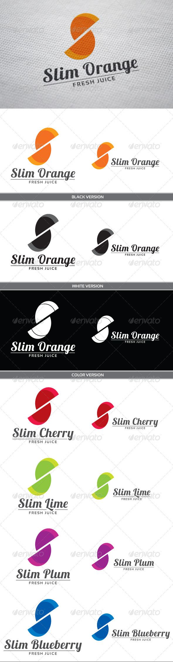 GraphicRiver Slim Orange 3917359