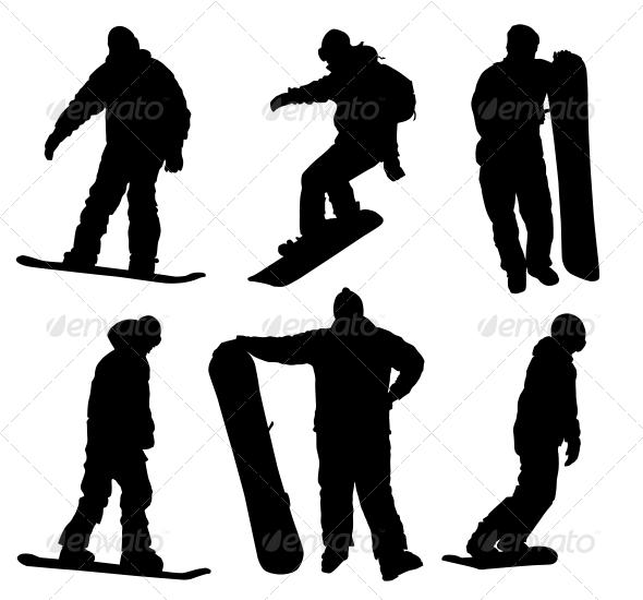 GraphicRiver Snowboard Set 3917487