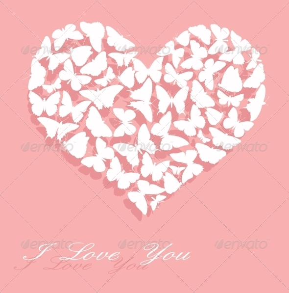 GraphicRiver I Love You Valentine s Day card 3917854