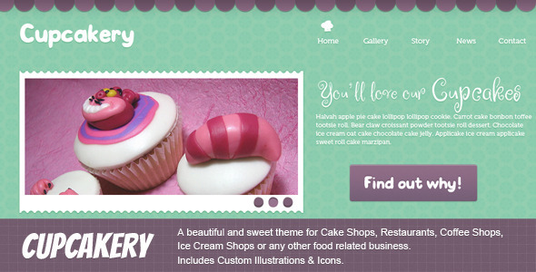 Cupcakes Templates from ThemeForest