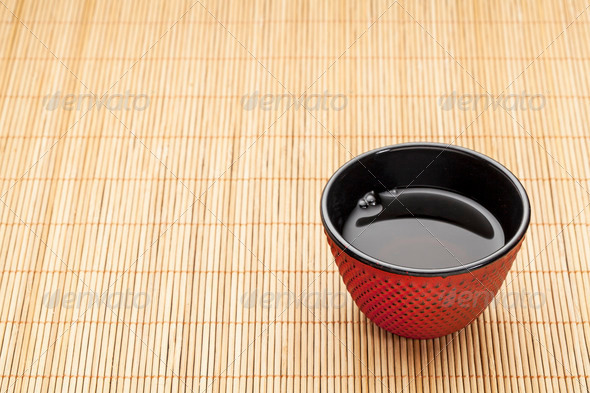 Japanese cup of tea - Stock Photo - Images
