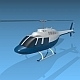 Bell 206 private helicopter